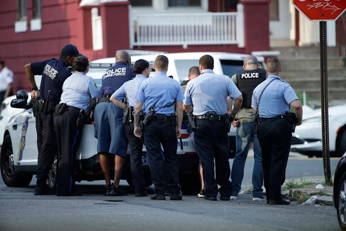 Philadelphia police were in a standoff with an armed man.