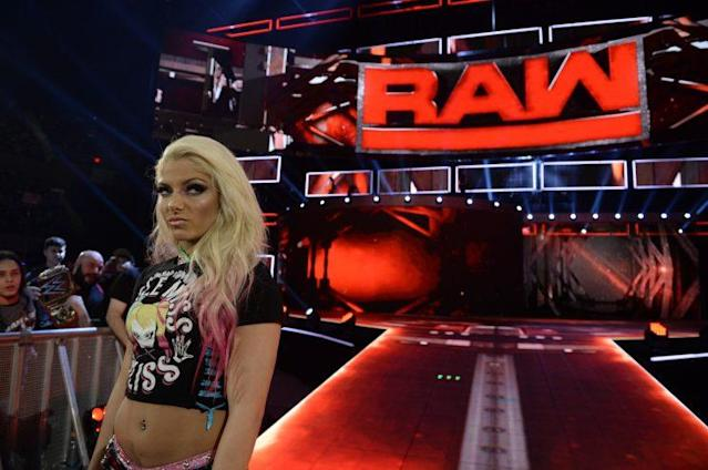 Alexa Bliss made her Raw debut this past Monday. (Photo courtesy of WWE)