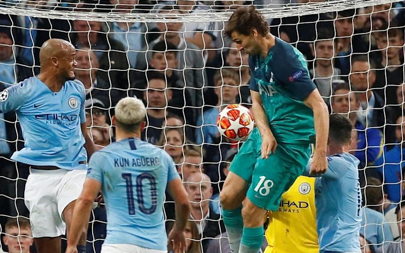 Llorente steers home the decisive goal of a pulsating Champions League tie at the Etihad - Action Images via Reuters