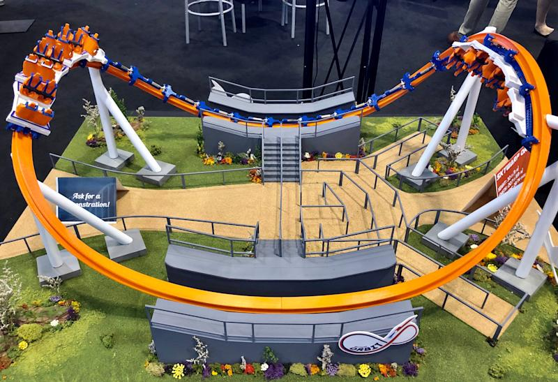 Skyline Attractions shared a model of Orbit, the latest iteration of its Skywarp coasters.
