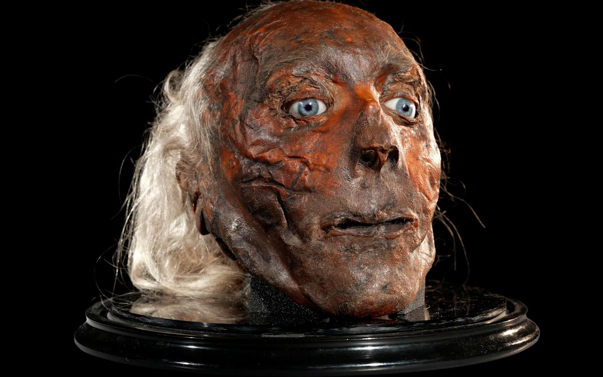 Jeremy Bentham's head - Copyright 2010, University College London
