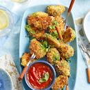 <p>Look for small Brussels sprouts for this quick and easy vegetarian recipe, which provide bite-size nibbles for your guests. If you can only find large sprouts, cut them in half for more manageable bites.</p>