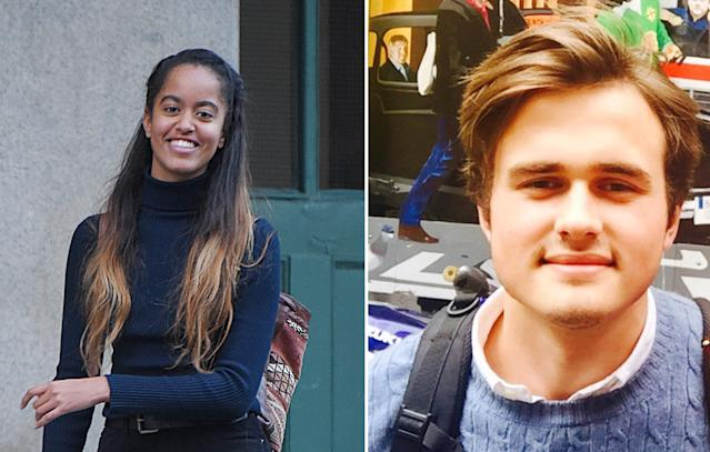 Malia Obama appears to be dating a British student [Photo: Getty/Twitter]