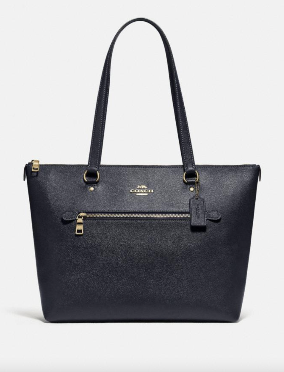 Gallery Tote in Midnight (Photo via Coach Outlet)
