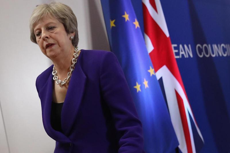 Under pressure: Theresa May (Getty Images)