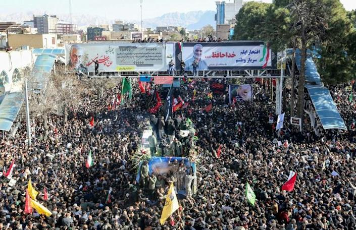 The killing of Soleimani, who headed the Quds Force, the foreign operations arm of Iran's Revolutionary Guards, provoked massive outpourings of grief in Iran (AFP Photo/ATTA KENARE)