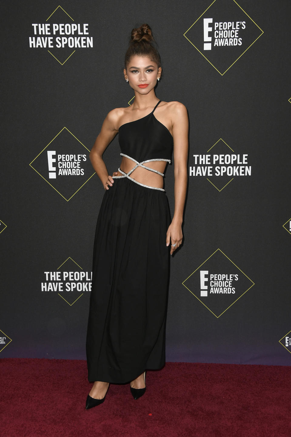 Zendaya wearing Christopher Esber.<em> [Photo: Getty]</em>