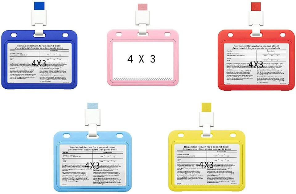 LYHLYH Multicolor Vaccination Card Protective Covers