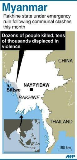 "Fresh communal violence has left at least three people dead in western Myanmar, government officials said Wednesday, as the United States praised Naypyidaw's ""constructive"" response to the clashes"