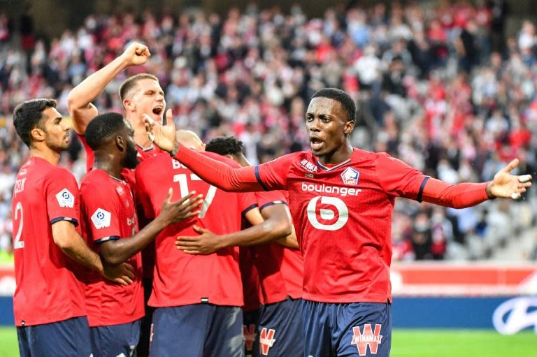 It was only Lille's second Ligue 1 win since lifting the title last season (AFP/DENIS CHARLET)