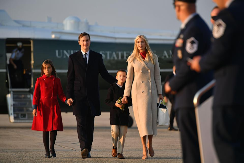 Ivanka Trump and Jared Kushner are reportedly renovating their Bedminster home in New Jersey amid reports of where they might permanently reside after leaving Washington DC (AFP via Getty Images)