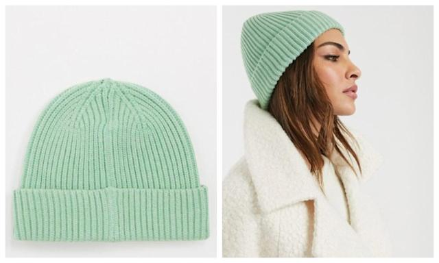 Urbancode Ribbed Beanie In Mint