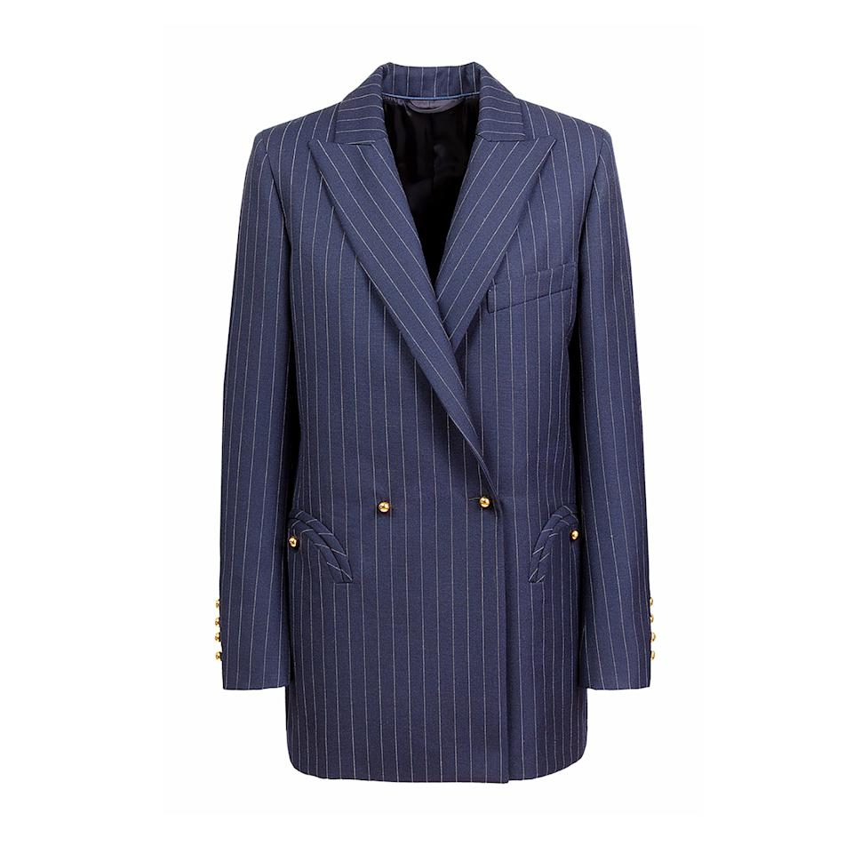 "<p>Named the ""Everyday Blazer"" for good reason. This classic pinstripe is the brand's signature design crafted from high-end lightweight wool and made in Italy.</p> <p><strong>Buy Now:</strong> Blazé Milano, double-breasted pinstriped light wool blazer with padded shoulders and silk internal piping in navy, $1,625, <a href=""https://www.blaze-milano.com/product/j-class/"">blaze-milano.com</a>.</p>"