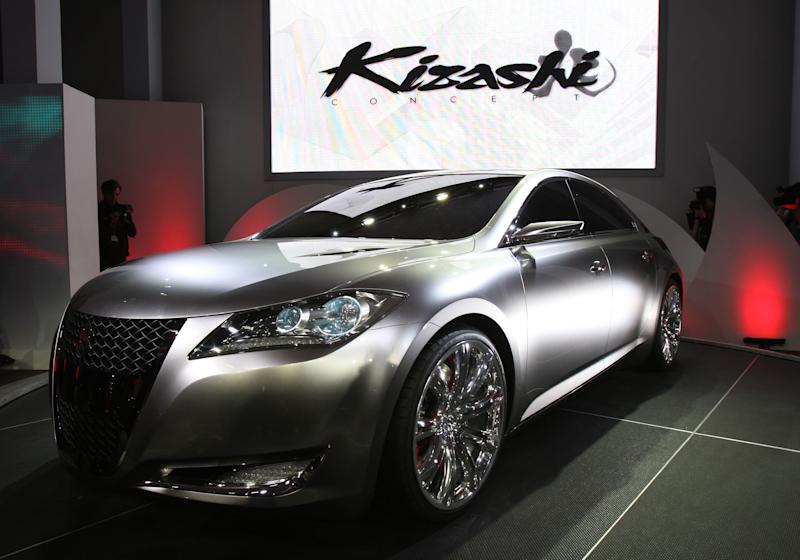 The Suzuki Kizashi 3 concept sports sedan is unveiled on March 20, 2008 at the New York International Auto Show