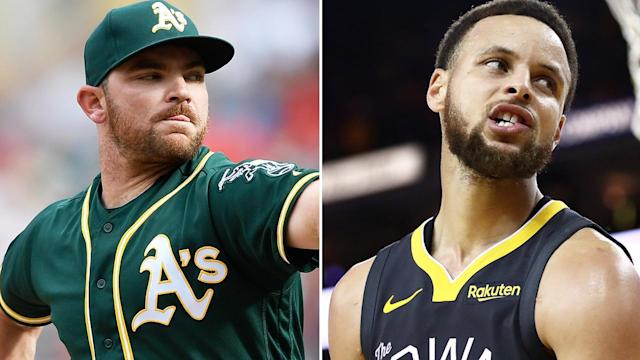Australian pitcher for the Oakland Athletics Liam Hendriks says the Golden State Warriors became decidedly less friendly once they started winning championships. Pictures: Getty Images