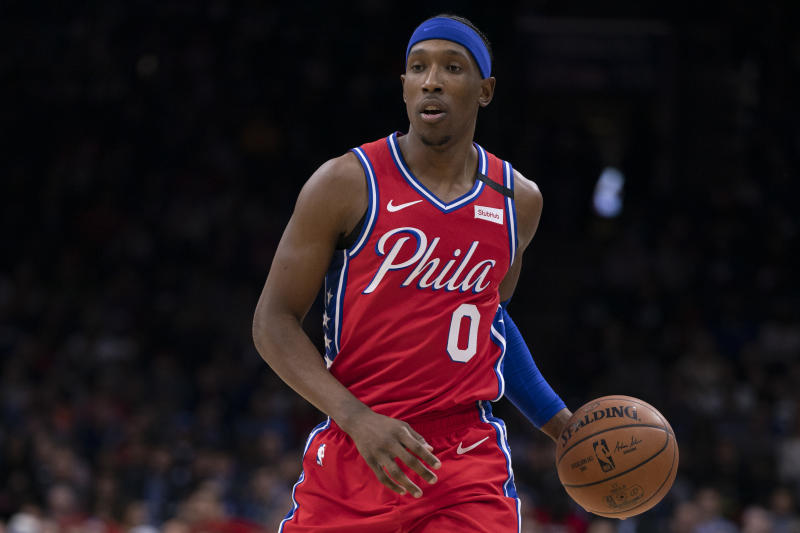 PHILADELPHIA, PA - FEBRUARY 11: Josh Richardson #0 of the Philadelphia 76ers dribbles the ball against the Los Angeles Clippers at the Wells Fargo Center on February 11, 2020 in Philadelphia, Pennsylvania. The 76ers defeated the Clippers 110-103. NOTE TO USER: User expressly acknowledges and agrees that, by downloading and/or using this photograph, user is consenting to the terms and conditions of the Getty Images License Agreement. (Photo by Mitchell Leff/Getty Images)