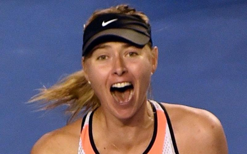 Sharapova is building up to her long-awaited return