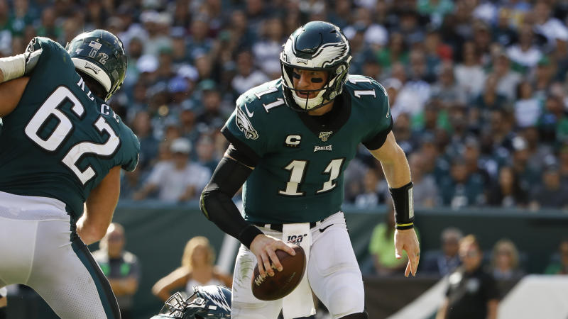 Philadelphia Eagles quarterback Carson Wentz has returned from a serious back injury. (AP)