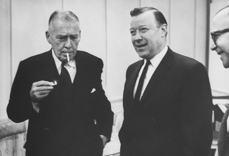 U.S. Diplomat Adolf A. Berle Jr. (C) at Convocative of Center with Walter P. Reuther (2R). (Photo by Truman Moore/The LIFE Images Collection via Getty Images/Getty Images)