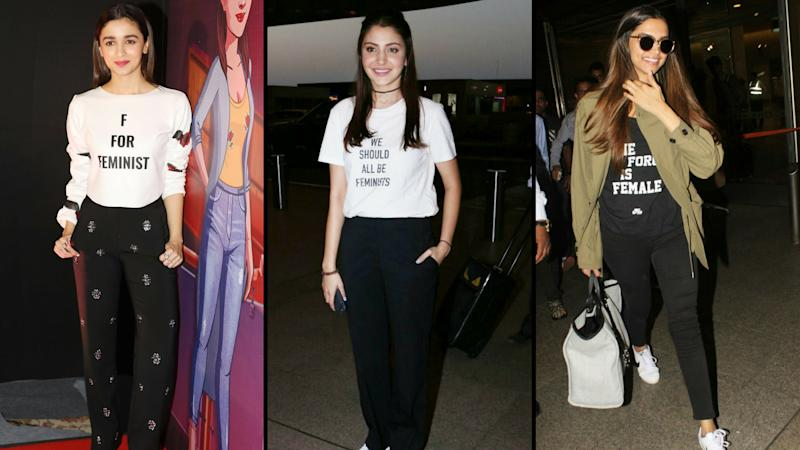 Alia, Anushka, and Deepika Wear Their Feminism on Their Tees