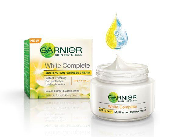 <p><strong>What</strong>: Garnier White Complete<br /><strong>Why we like:</strong> This face cream contains vitamin C and pure lemon essence which helps in lightening the skin. It also protects your skin from damaging and tanning due to harmful sun rays. The cream leaves your skin feeling moisturised and glowing. <br /><strong>Price</strong>: Rs.150<br /><strong>Where to buy</strong>: Skincare and beauty stores across the country</p>