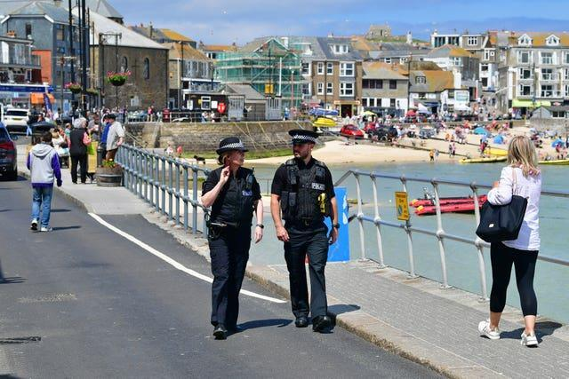 The seafront in St Ives