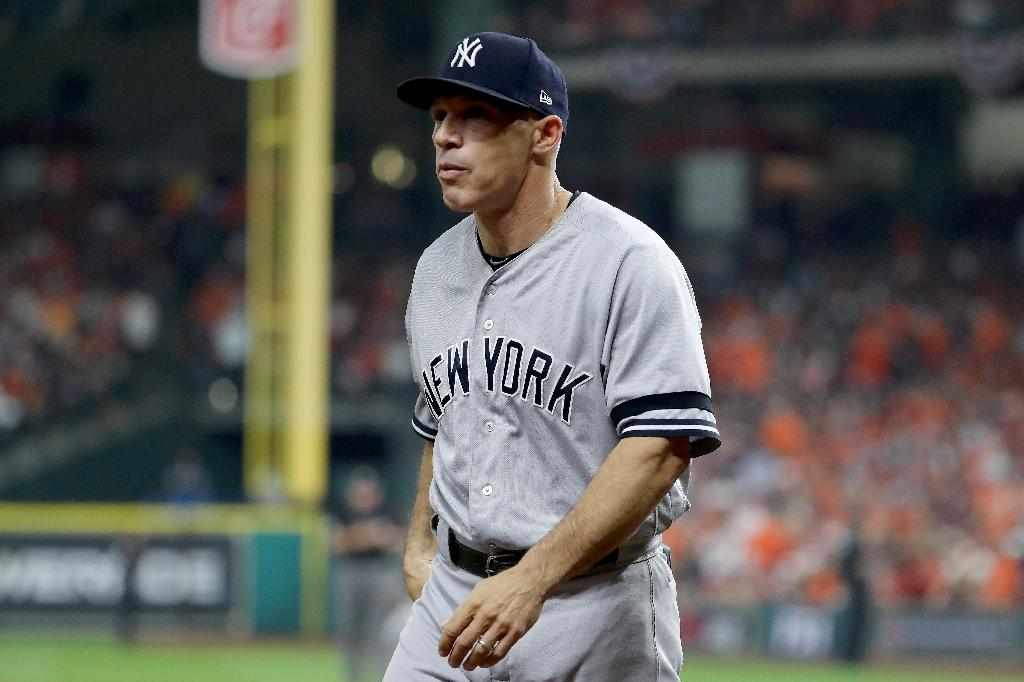 New York Yankees manager Joe Girardi was let go on October 26 after a decade at the helm following the team's narrow failure to advance to the World Series (AFP Photo/ELSA)