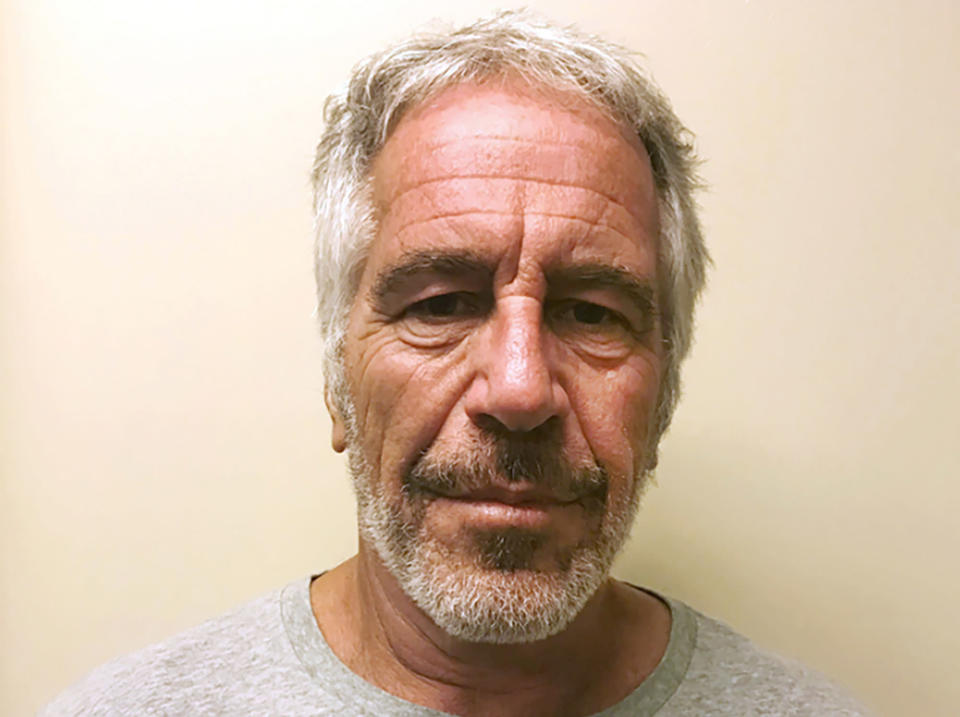 """FILE - This March 28, 2017, file photo, provided by the New York State Sex Offender Registry shows Jeffrey Epstein. A Justice Department report has found former Labor Secretary Alex Acosta exercised """"poor judgment"""" in handling an investigation into wealthy financier Jeffrey Epstein when he was a top federal prosecutor in Florida. The report was obtained by The Associated Press and is a culmination of an investigation by the Justice Department's Office of Professional Responsibility over Acosta's handling of a secret plea deal with Epstein, who had been accused of sexually abusing dozens of underage girls. (New York State Sex Offender Registry via AP, File)"""