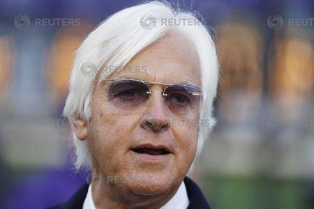 Nov 2, 2018; Louisville, KY, USA; Horse trainer Bob Baffert waits near the winner's circle after Game Winner (9) won the Sentient Jet Breeders Cup Juvenile at Churchill Downs. Mandatory Credit: Brian Spurlock-USA TODAY Sports