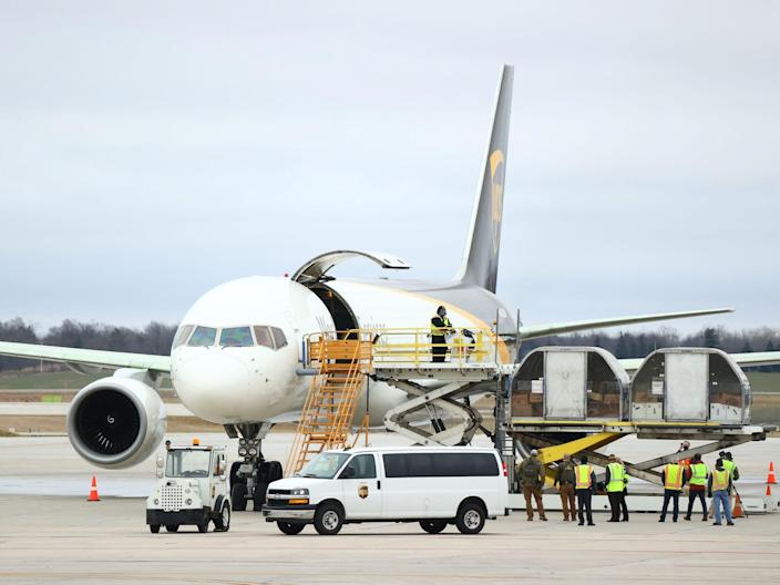 UPS Airlines Boeing 757 COVID-19 vaccine