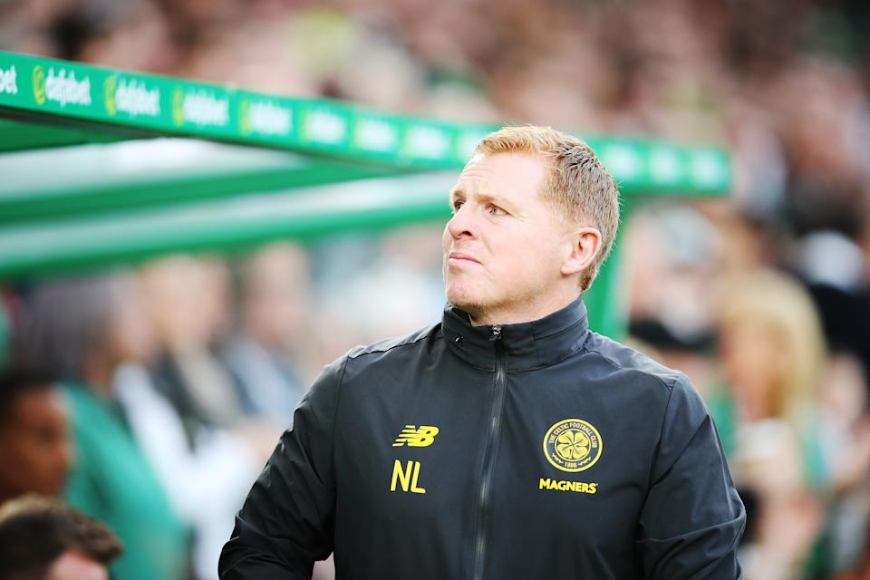 GLASGOW, SCOTLAND - AUGUST 13: Celtic Manager Neil Lennon  is seen  during the UEFA Champions League, third qualifying round, second leg match between Celtic and CFR Cluj at Celtic Park on August 13, 2019 in Glasgow, Scotland. (Photo by Ian MacNicol/Getty Images)
