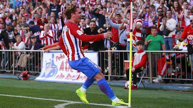 Antoine Griezmann has been urged by Diego Simeone to keep up his fine form ahead of the derby between Real Madrid and Atletico Madrid.