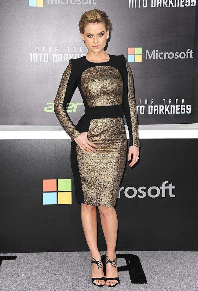 """HOLLYWOOD, CA - MAY 14:  Actress Alice Eve attends the premiere of """"Star Trek Into Darkness"""" at Dolby Theatre on May 14, 2013 in Hollywood, California.  (Photo by Jason LaVeris/FilmMagic)"""