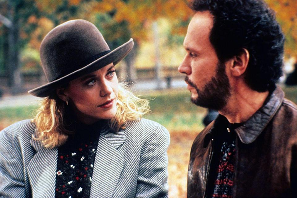 """<p><em>When Harry Met Sally </em>is a genre-defining movie, raising the bar for all rom-coms to come. Nora Ephron's masterpiece is about Harry (Billy Crystal) and Sally's (Meg Ryan) decade-long journey to get together after they meet during one fateful cross-country road trip. </p><p><a class=""""link rapid-noclick-resp"""" href=""""https://www.amazon.com/When-Harry-Sally-Billy-Crystal/dp/B001Q556QG?tag=syn-yahoo-20&ascsubtag=%5Bartid%7C10072.g.33383086%5Bsrc%7Cyahoo-us"""" rel=""""nofollow noopener"""" target=""""_blank"""" data-ylk=""""slk:Watch Now"""">Watch Now</a></p>"""