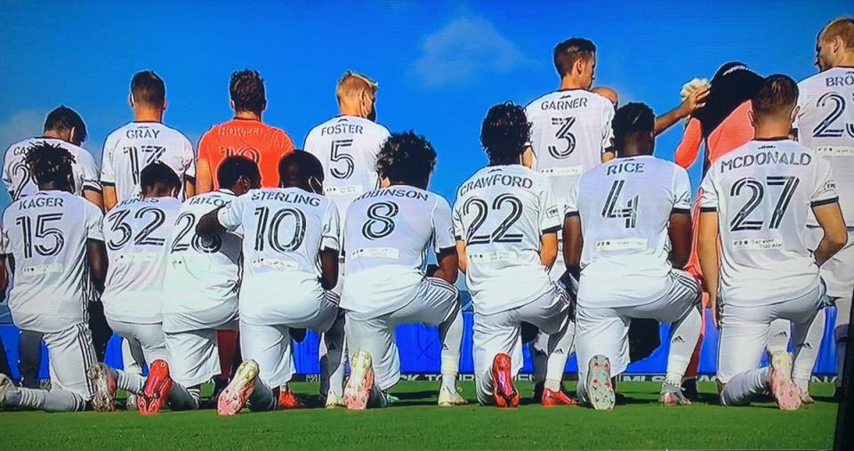 In their first game of the MLS is Back Tournament Thursday morning, the players from the Philadelphia Union replaced their own names on the back of their jerseys with the last names of Black people killed by police in recent years.