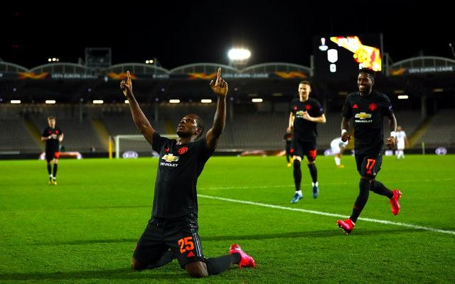 Odion Ighalo scored a fine goal as Manchester took control of their round of 16 tie with a comfortable win at LASK.