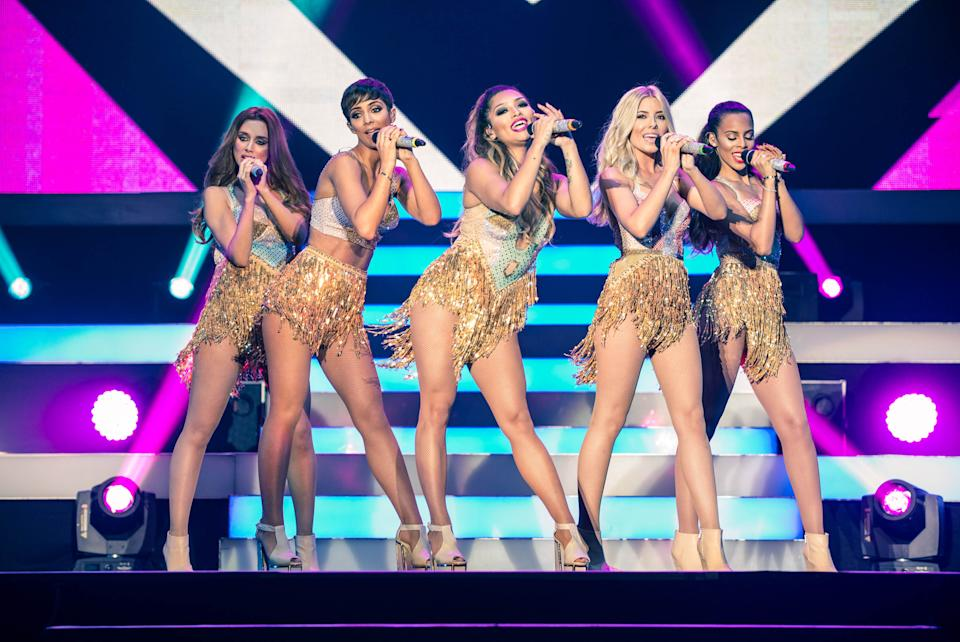 Photo by: KGC-243/STAR MAX/IPx 9/19/14 The Saturdays - Frankie Sandford Bridge, Mollie King, Una Healy Foden, Rochelle Humes and Vanessa White - perform at Wembley Arena. (London, England, UK)