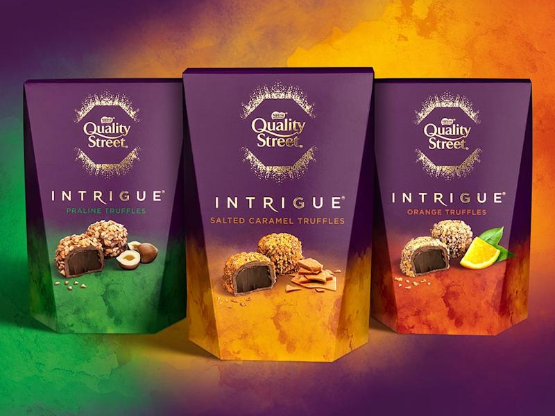 Quality Street Intrigue truffles: Nestlé