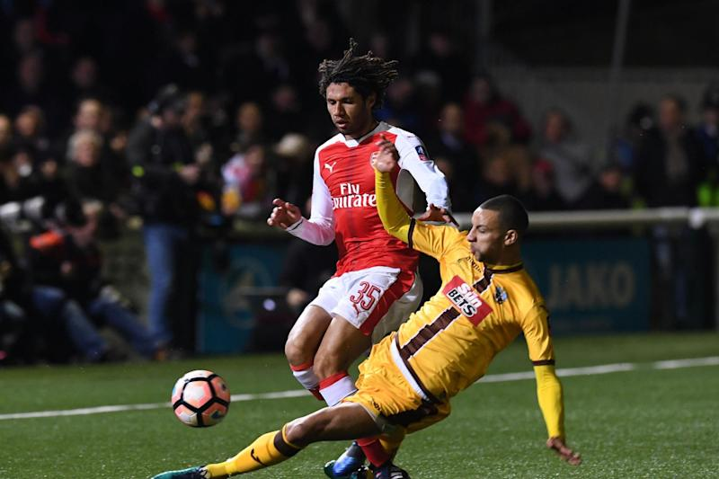 Video referees could be needed at Sutton's Gander Green Lane if they repeat this season's FA Cup heroics: Arsenal FC via Getty Images