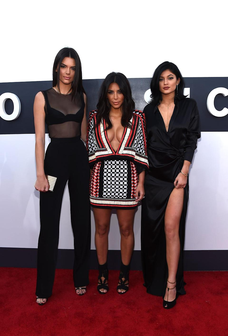 """<p>By 2014, Kendall and Kylie were making names for themselves and also became familiar faces on the red carpet. This was also the year <a href=""""https://www.popsugar.com/fashion/photo-gallery/35465102/image/35552181/Kim-Kardashian-2014-MTV-VMAs"""" class=""""link rapid-noclick-resp"""" rel=""""nofollow noopener"""" target=""""_blank"""" data-ylk=""""slk:where Balmain reigned supreme"""">where Balmain reigned supreme</a> in Kim Kardashians' closet. </p>"""