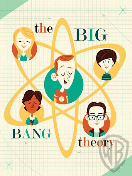 """This artwork pays tribute to """"The Big Bang Theory"""" TV show. The Big Bang Theory, Dave Perillo, giclée, 24""""H x 18""""W."""