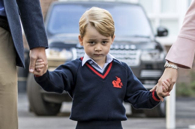 Prince George first day at school