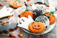 """<p>Who says Halloween is all about the candy? This is the perfect time to get creative with your baking. Decorate some spooky cookies or build a (haunted) gingerbread house. You'll have both an activity and a yummy dessert. </p><p><strong>More: </strong><a href=""""https://www.townandcountrymag.com/leisure/dining/g2598/halloween-desserts/"""" rel=""""nofollow noopener"""" target=""""_blank"""" data-ylk=""""slk:25 Halloween Desserts That Are Frighteningly Delicious"""" class=""""link rapid-noclick-resp"""">25 Halloween Desserts That Are Frighteningly Delicious</a></p>"""