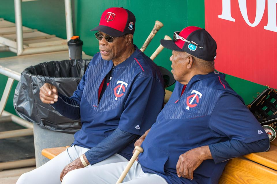 Rod Carew and Tony Oliva are former teammates, brothers and friends for over 50 years. (Getty Images)