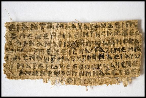 'Gospel of Jesus's Wife': Doubts Raised About Ancient Text
