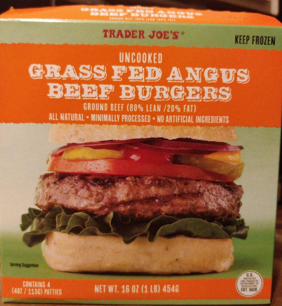 """<p>A burger is a burger, right? Nope. Hickey tells Delish that the ingredients in these frozen patties are """"horrible."""" She explains, """"For each patty, you're consuming 290 calories, 80 mg of cholesterol, and 23 grams of fat, nine of which are saturated fats. Sure, that doesn't seem too harmless right? But these numbers don't take into account the percentages of the fats in comparison to daily recommended values. These burgers not only give the consumer 35% of their daily fats, but 45% of their daily saturated fats. That's as much fat as two burgers form Burger King."""" You're better off with a more lean brand! </p>"""