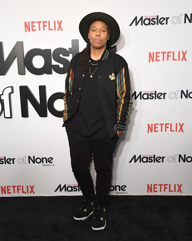 """At the season two premiere of """"Master of None"""" in New York City."""