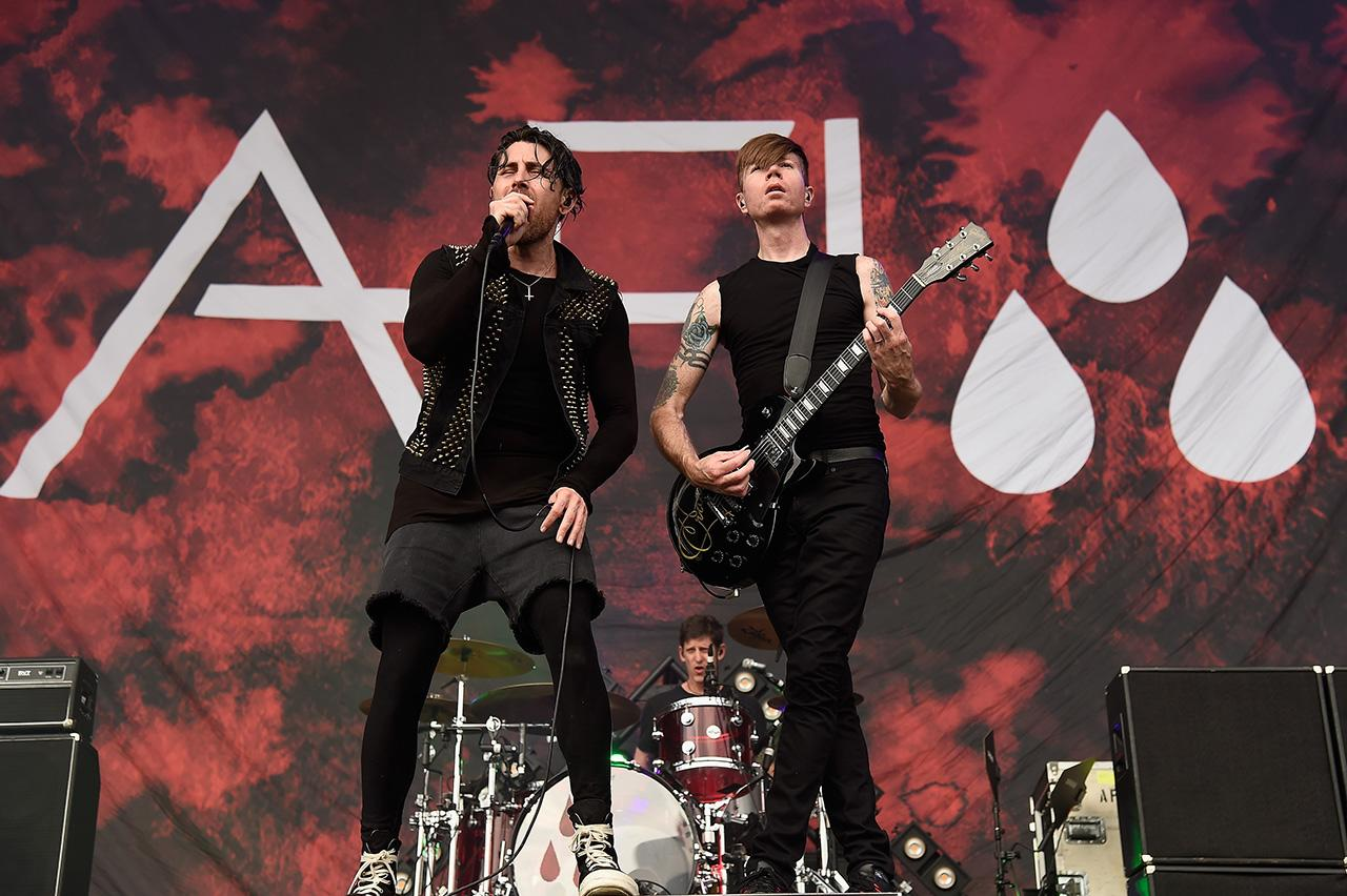 <p>AFIDavey Havok (L) and Jade Puget of AFI perform onstage during the 2017 Firefly Music Festival on June 16, 2017 in Dover, Delaware. (Photo by Kevin Mazur/Getty Images for Firefly) </p>