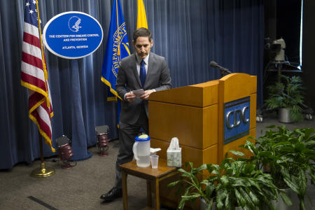 The CDC's Dr. Tom Frieden said he didn't know of an Ebola patient who had undergone intubation or dialysis, but Weinstein says both had been done at Emory. (John Amis/AP)