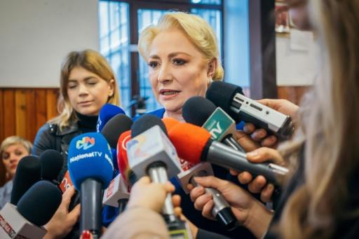 Former prime minister and presidential candidate Viorica Dancila said she had voted told supporters she voted 'for a safe and dignified Romania'